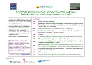 14 07 05 - JORNADA AGRUICULTURA EN ENTORNS URBANS